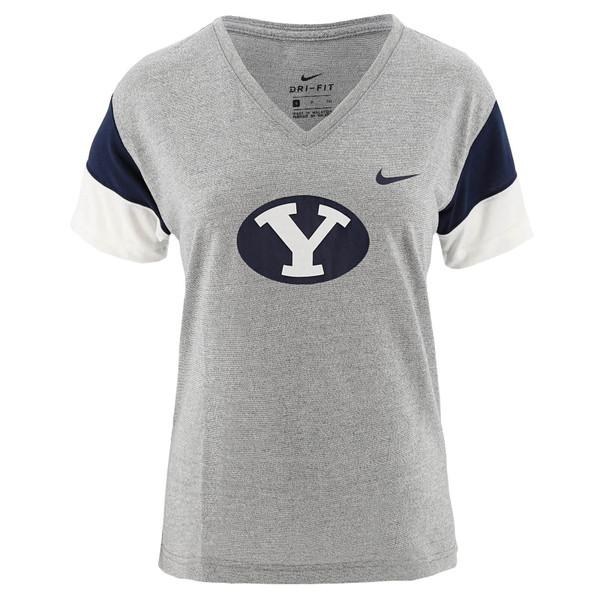 cd9a7a548e0e4 Women's Dri-Fit Oval Y Breathe BYU T-Shirt - Nike