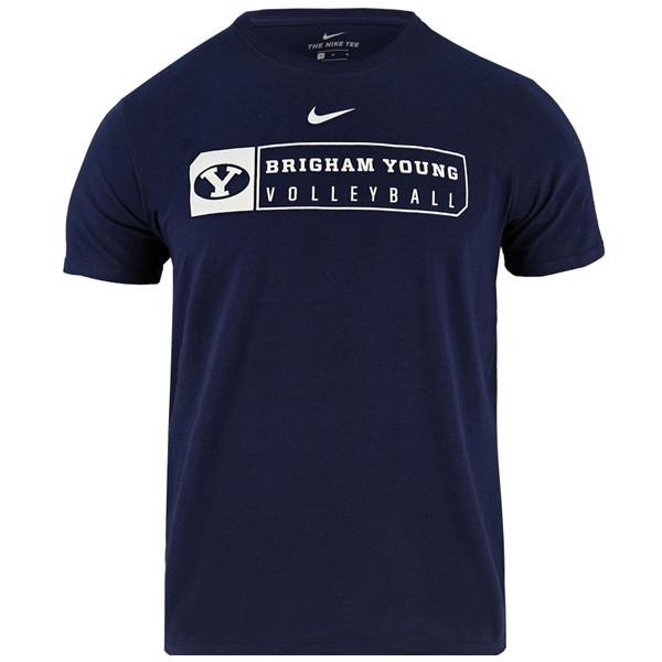 4feb4c3c83 Oval Y Brigham Young Volleyball BYU T-Shirt - Nike