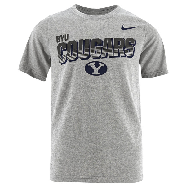 071e418d6b317 Dri-Fit Youth BYU Cougars Oval Y T-Shirt - Nike